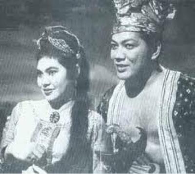Puspawangi (Saadiah) dan Tun Nila Utama (P.Ramlee)