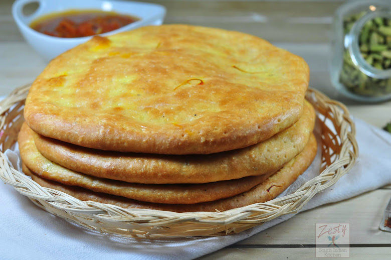 Sheermal: Saffron flat bread with touch of cardamom