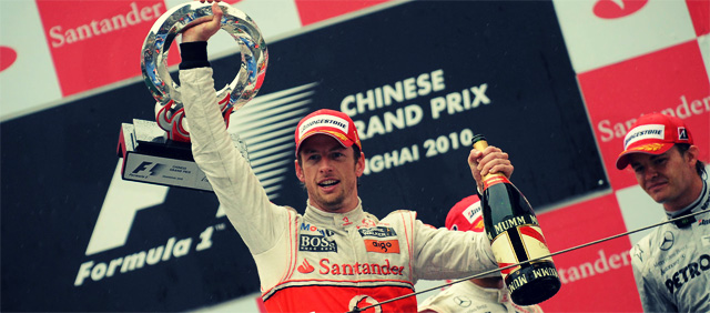 Jenson Button gana el GP de China 2010 con McLaren