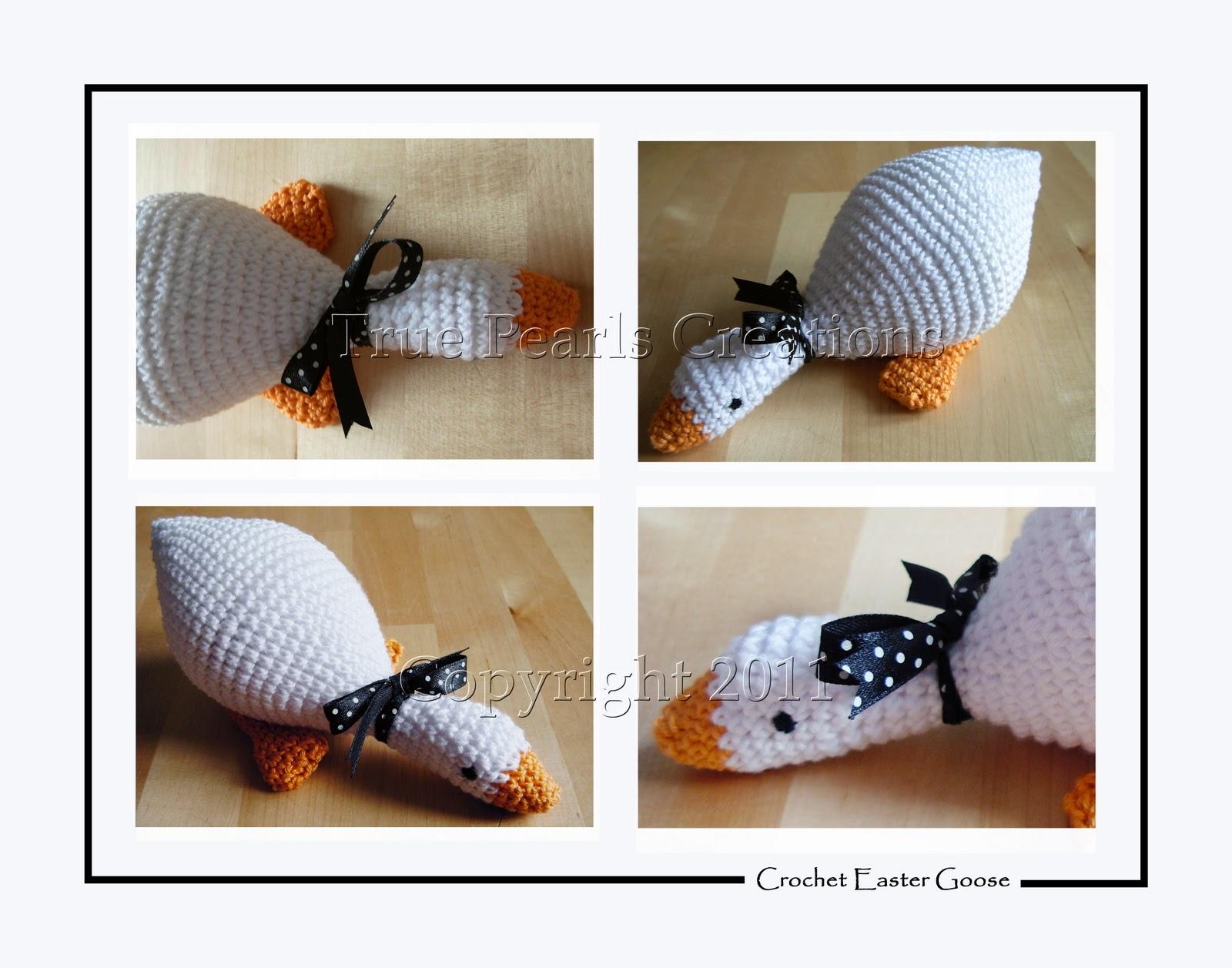 True Pearls Creations: Amigurumi Easter goose pattern