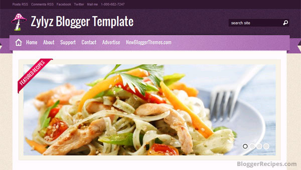 10 best food recipe blogger templates 2015 template for share zylyz blogger template forumfinder Choice Image