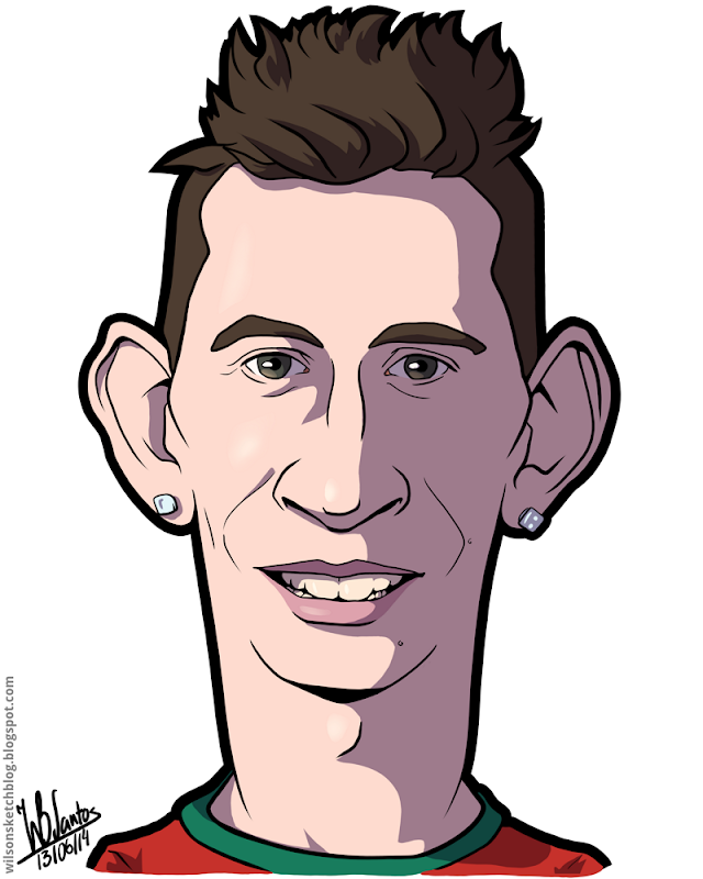 Cartoon caricature of João Pereira.