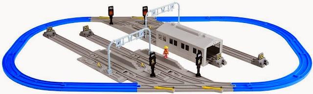 Bộ đường ray và sân ga tàu hỏa Rail Yard And Rail Set thật đẹp mắt