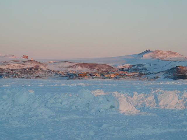McMurdo from ice runway
