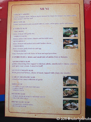 Pogi Truck menu