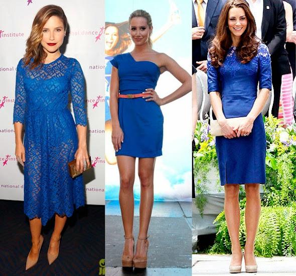 Sapato para usar com vestido azul bic