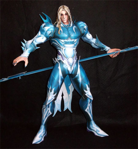 Dissidia 012 Final Fantasy Holy Strength Kain Highwind Papercraft