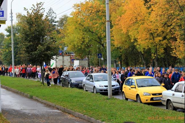В массовом пробеге в Угличе приняли участие несколько сот человек