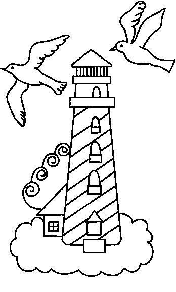 Pinto dibujos faro para colorear - Dessin de phare ...