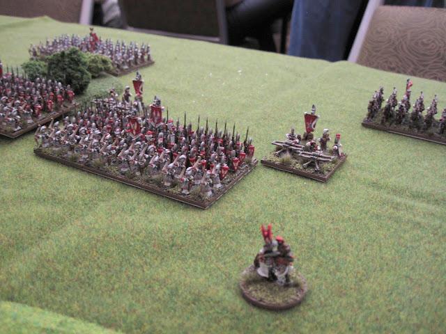 Elven brigades advance up their left flank.