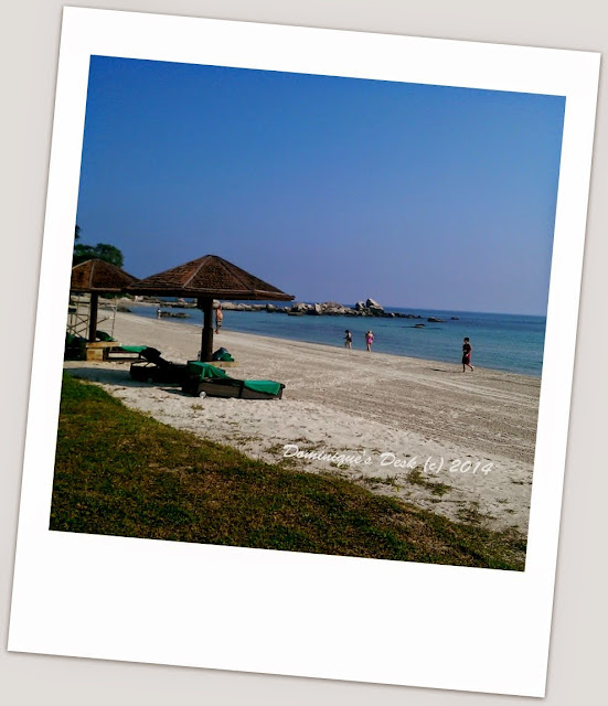 The private beach at Angsana Bintan
