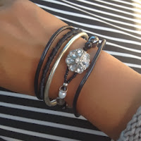 Black and silver arm party