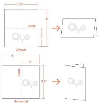 AIYOPRINT - Fold-Over Business Card Dimensions and Print Specs