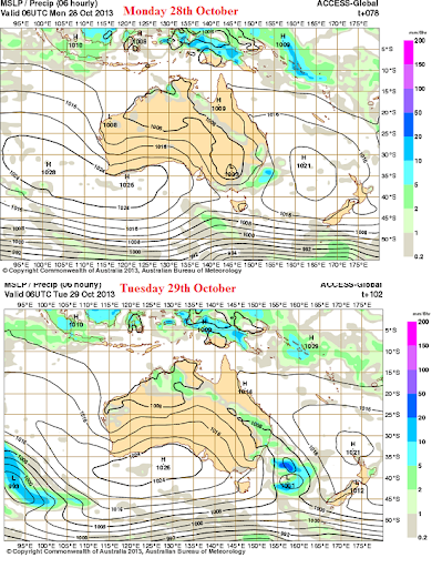 28th oct2013 synoptic australia