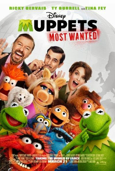 Poster Of English Movie Muppets Most Wanted (2014) Free Download Full New Hollywood Movie Watch Online At Alldownloads4u.Com