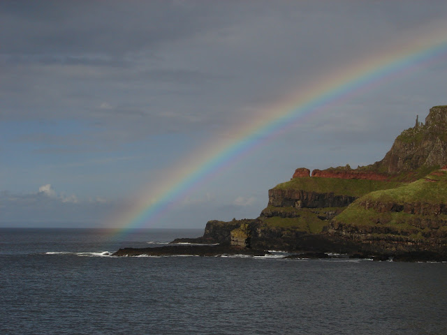 Rainbow at the Giants Causeway