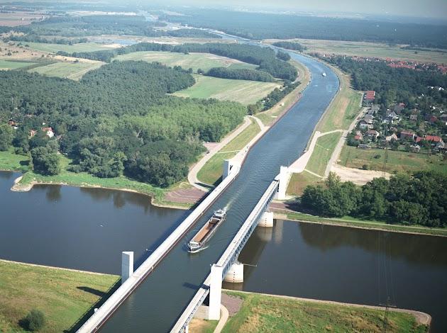 Rundflug über die Börde, Wasserstraßenkreuz, Magdeburg, Rennstrecke Oschersleben