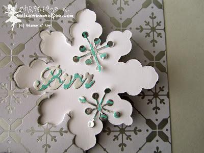 stampin up, christmas, weihnachten, snowflake thinlit card, schneekristall karte