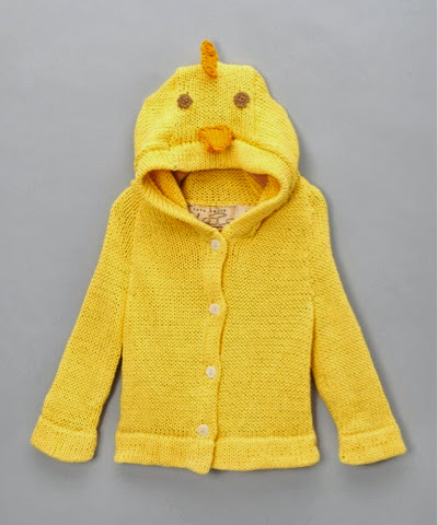 tot knits hooded chick cardigan organic wool