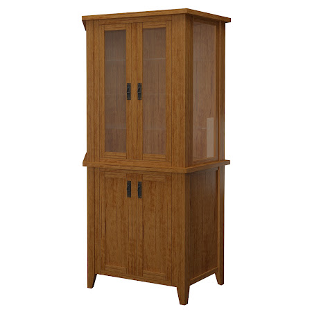 Cottonwood Corner Cabinet in Como Maple