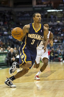 wearing brons nba lebron9 freegums george hill 12 Wearing Brons: LeBron X, 9 and Soldier 6 Sightings all over NBA