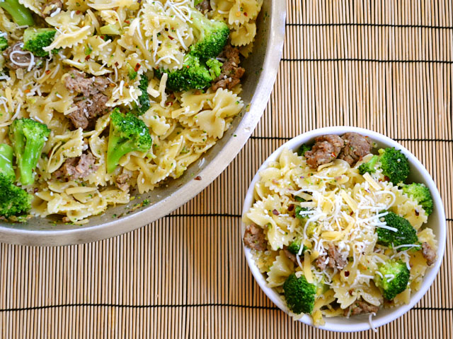 Spicy Sausage and Broccoli Pasta - BudgetBytes.com