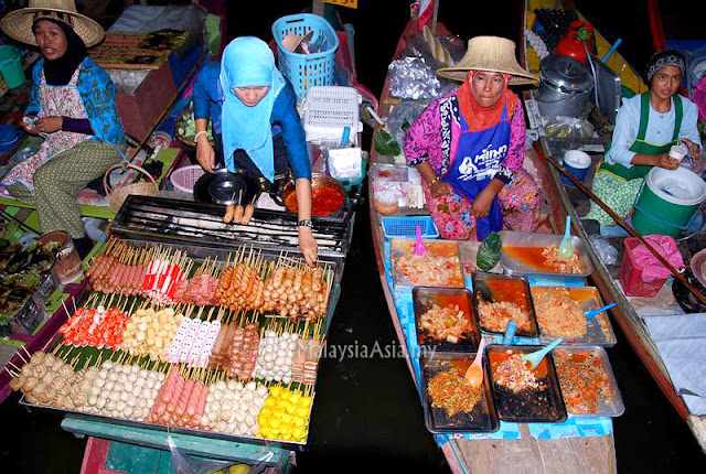 Floating Food Market in Hat Yai