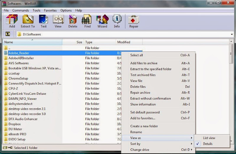 Screenshot of WinRAR v.5.00 Beta 6 (32bit & 64bit) With Crack Compression & Archive Tools PC Software Free Download at Alldownloads4u.Com