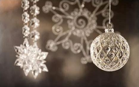 Sfondi di Natale decorazioni di cristallo