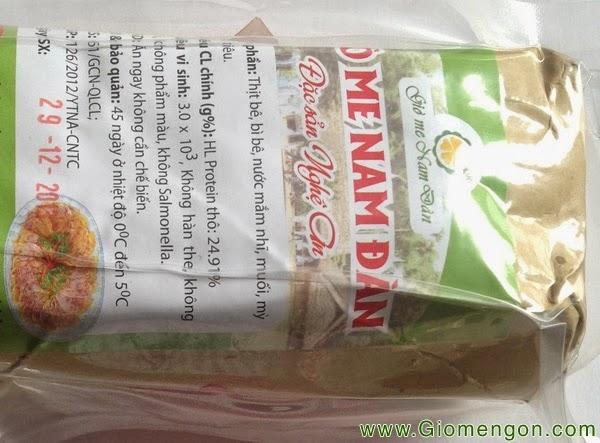 Giò Me Nam Đàn Nghệ An – 1 kg hút chân không, bảo quản lạnh