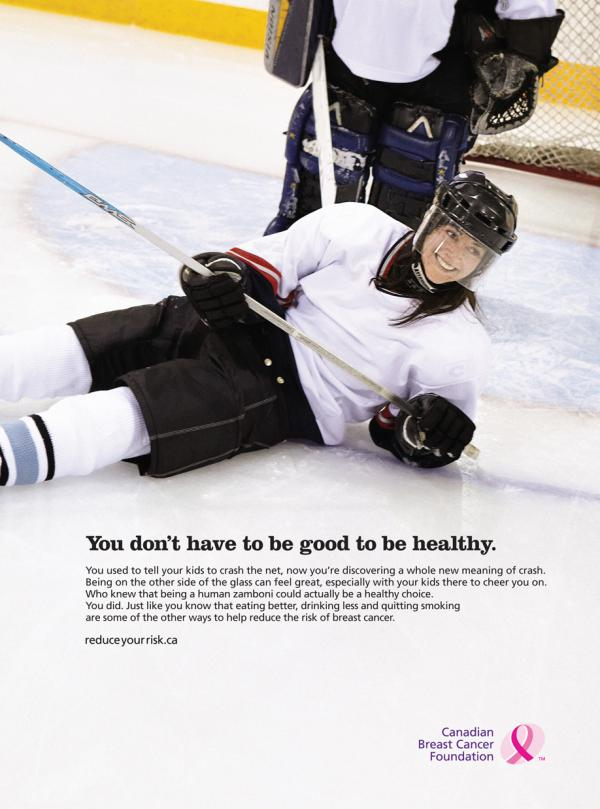 "Canadian Breast Cancer Foundation ""Hockey"" Print Ad"