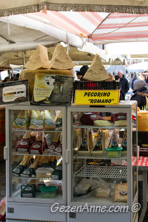 dev pecorino peynirleri, Campo de Fiore Roma