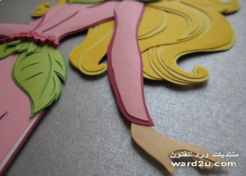 اجمل اللوحات و التصميمات المنفذة من الورق متنوع