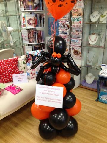 Enchanted weddings events bristol halloween balloon for Balloon decoration for halloween