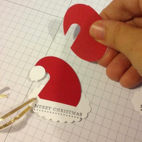 Christmas Hat Gift Tags
