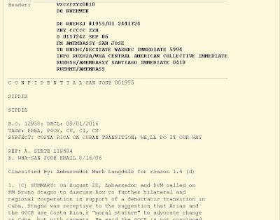 WikiLeaks: EEUU propuso a Costa Rica encabezar cruzada para mediación subversiva en Cuba  Cable-costa-rica-cuba-