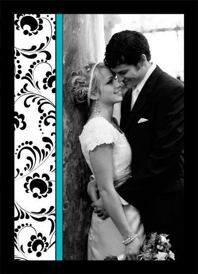 Invitación con foto de novios para boda