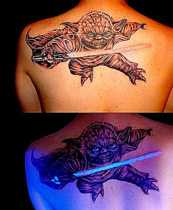Glow in the Dark Yoda Tattoo   Dorkly Post