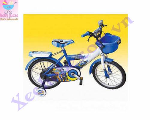 Xe đạp cho bé 14-k5 xanh trắng