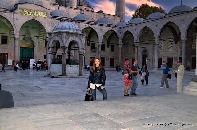 Я рядом с Мечетью Султана Ахмета