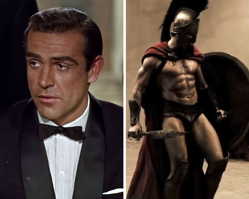 James Bond and Leonidas
