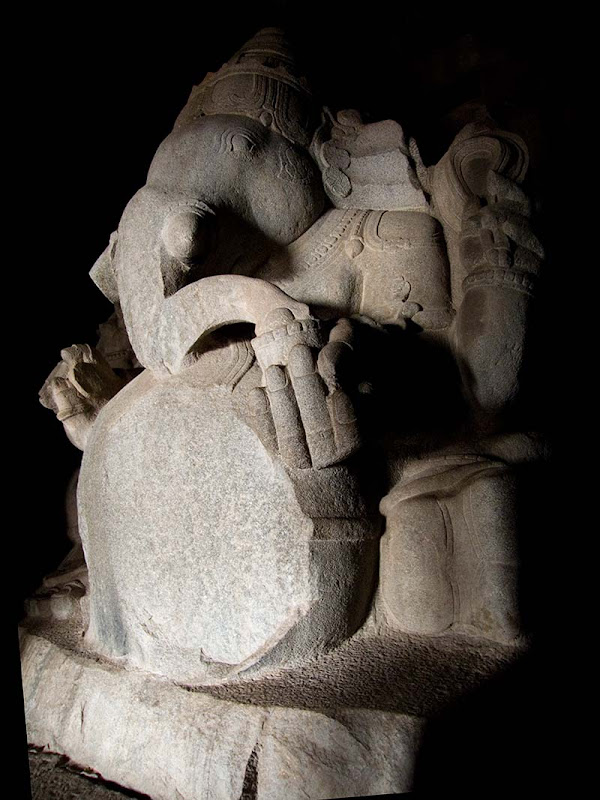 monolithic statue of ganesha