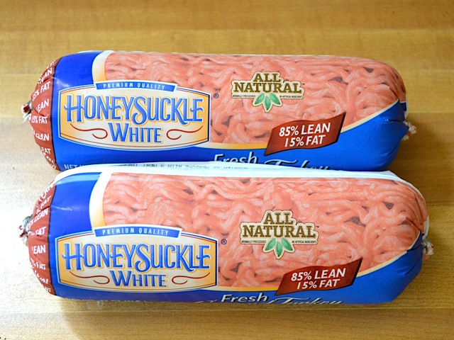 two packages of raw ground turkey