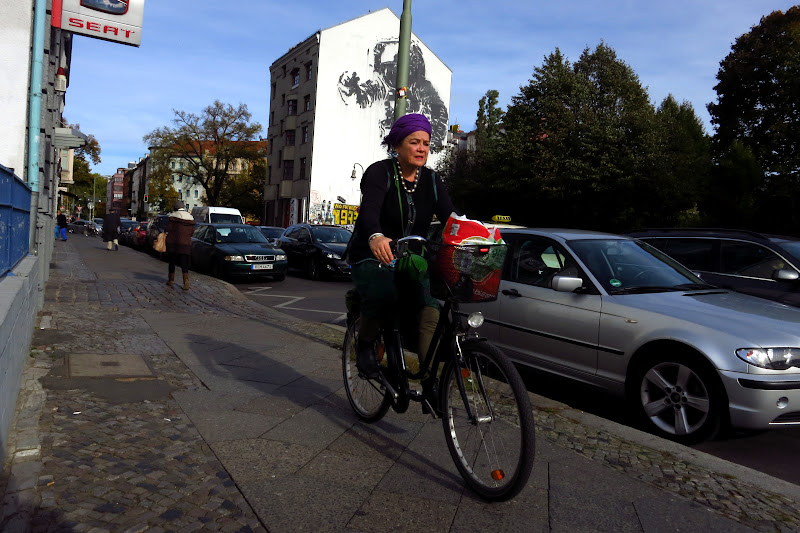 Purple turban lady