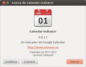 Liberado Calendar-Indicator 0.0.3.3 ó Google Calendar a tope