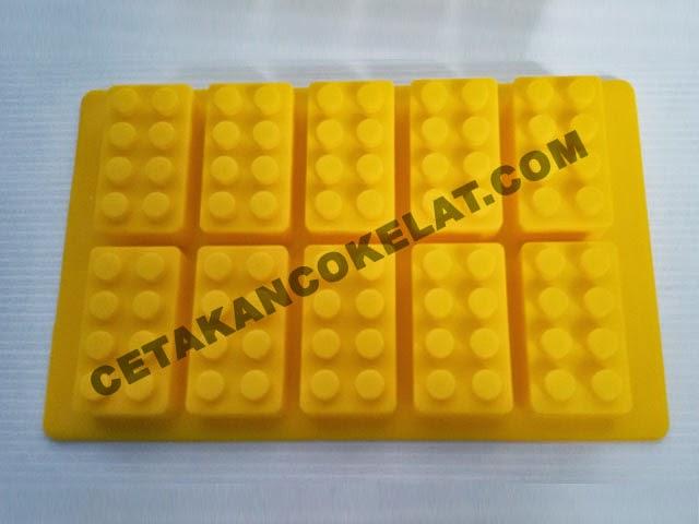 cetakan coklat mainan lego brick bongkar pasang SIL021 SIL21