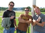 backstreet boyz pose by the Lincoln Memorial....respect