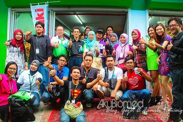 Blogger di pelancaran Kawasaki MX World pertama di Malaysia