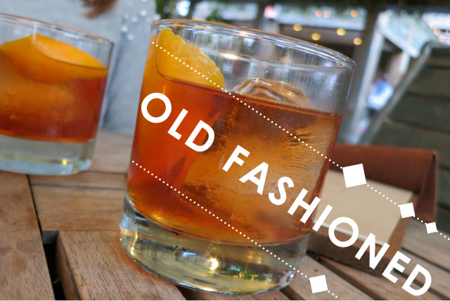 old fashioned, bourbon, green galow