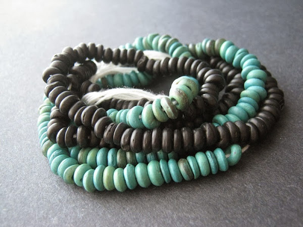 Wooden Heishi Bead Strands